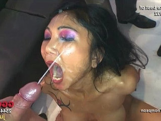 asian   babe   bukkake