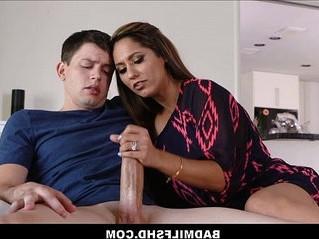 jerking  mom  son