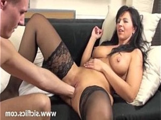 brunette  busty  fisting