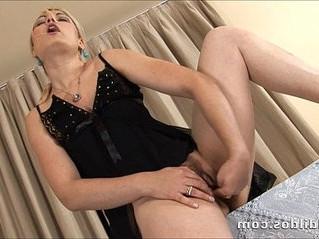 blonde  brutal  dildo