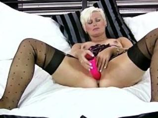 blonde  cougar  dildo