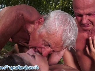 3some   enjoying   old man