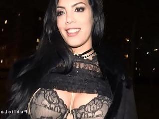 big tits  huge tits  public